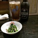 鳥長 - 黒ホッピーセット430円