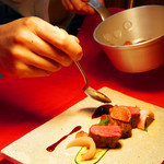 Kokoro - 牛フィレ肉のロースト   ソースヴァンルージュ