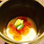もつ吉 - お通しは冷製茶碗蒸しです!