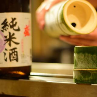 """""""竹""""で味わうこだわりの地酒【ときわ盛り】"""