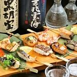 良々 - 料理写真:炭火焼!魚串焼き盛り合わせ