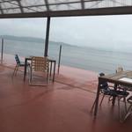 海のレストラン - テラス席