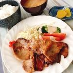 客人 - 生姜焼き定食