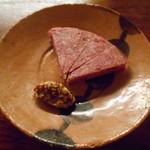 燗酒嘉肴 壺中 - 黒毛和牛コンビーフ