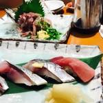 三是寿司 - しめ鯖 秋刀魚 中トロ