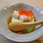 割烹和楽 - 空豆豆腐
