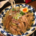69608977 - 親鶏剛麺冷たい肉ラー750円肉増しプラス200円