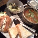 蒼紫 - スープと玄米パンのサンドイッチセット