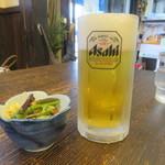 古民家麺処 かつら - 生ビールと山菜