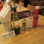 La Pesquera -MARISQUERIA- - テーブル上の調味料