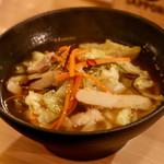 天ぷら串ともつ鍋 奥志摩 - どんたく麺