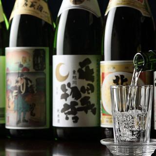 北海道の地酒が常時10種類以上!