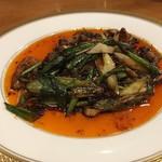 天鳳 - 豚肉と葉ニンニクの回鍋肉(特別料理)