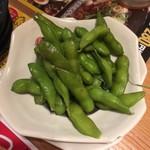 鳥貴族 - 枝豆は少し塩気足らず。