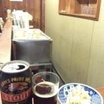 松川酒店 - この日はポテサラを頂きました٩(•ᴗ• ٩) そしてビールで一番好きなスタウト