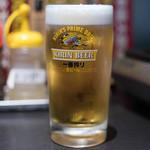 焼肉いち - 2017.7 生ビール(540円)キリン一番搾り