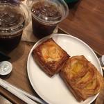 フレッシュネスバーガー - パンとコーヒーのセット