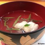 鮨 あら田 - 鱧と蓴菜の椀物