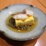 69635759 - 玉子豆腐に鯛載せジュンサイ和え