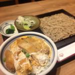蘭免ん - そば定食(カツ丼)