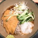 名代 箱根そば - 冷きつね蕎麦