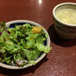 胡椒饅頭KIKI - セットサラダとスープ