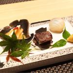 宮崎尾崎牛 肉割烹 吟 - 季節前菜盛合せ