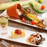 【ランチ】厳選素材のバーニャカウダ、前菜盛り合わせ、選べるパスタのプリフィックスランチ