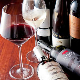 料理のお供に当店のおすすめ「ワイン」の数々をご堪能下さい!