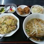 台湾料理 福源 - 炒飯定食です。(2017年7月)