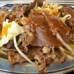 馬焼肉酒場 馬太郎 - 馬焼肉定食 700円、辛味噌ダレをかけてみました