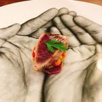 69652444 - 鰹 ラタトゥイユ 木苺のパン