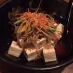 創作和風料理 荻窪 卯 - 豆腐とジャコのサラダ