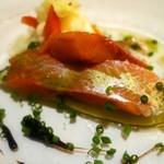 オー・グルマン - 本日の魚介の料理(サクラマス)
