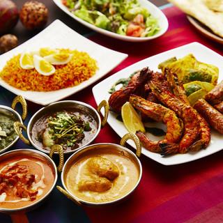 テーラーメイドの本格インド料理