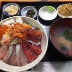 69677971 - はぼろ丼 1200円 + 酢めし 150円