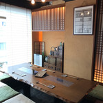 しん白 - 掘り炬燵式の個室