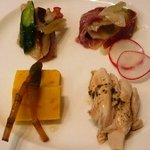 Yuukyushanhai - 前菜・・「バンバンジー」「ザーサイとサラミの和え物」「タコの酢の物」「干し豆腐」