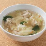 蓮香園 - 手作りワンタン入りスープ