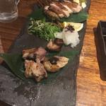 焼鳥 ひらい - 黒地鶏モモ肉 地鶏スペシャル(1500円)