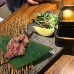 焼鳥 ひらい - 濃厚白肝のさっとあぶり(780円)