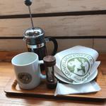 ホノルルコーヒー 赤坂見附店 - ハワイコナとベーグルです。