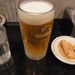 麺商つけ麺 志堂 - どうしても頼んじゃう生ビール