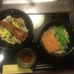 69692609 - 煮穴子丼とそば、1,000円
