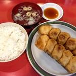 第7ギョーザの店 - ホワイト餃子定食(中)