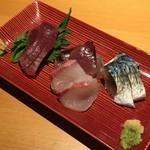 酒菜とごはん 花籠 - 店主厳選 刺し盛り(980円) 2017.7