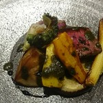 アコンプリ - 牧草牛テンダーロインのロティ 加茂茄子