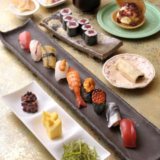 美味しいお寿司に舌鼓を