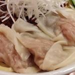 69701696 - 瞠のピリ辛ボロネーゼ(限定麺)+わんたん