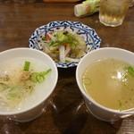 69706471 - ジョークお粥、ヤムウンセン春雨サラダ、スープ
